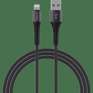 Cablu USB Recci Armor Lightning 2.4A 1m