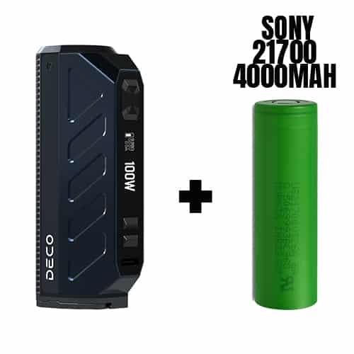 Mod Aspire Deco 100W + Acumulator Sony 21700 4000mAh de pe e-potion.ro