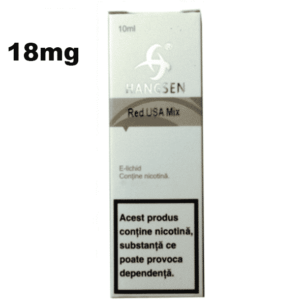 Lichid Tigara Electronica Hangsen RED USA MIX 18mg 10ml de pe e-potion.ro